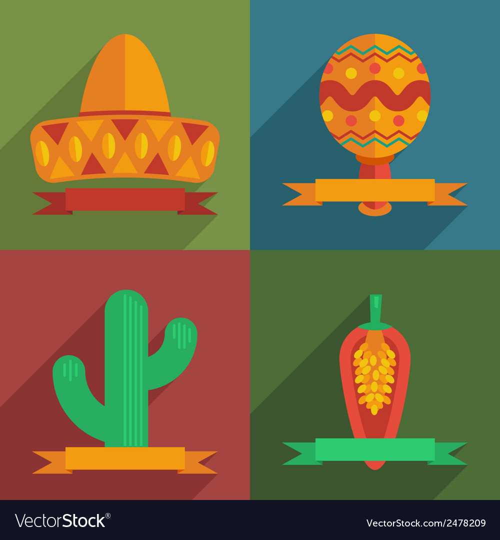 Mexican decorations vector | Price: 1 Credit (USD $1)