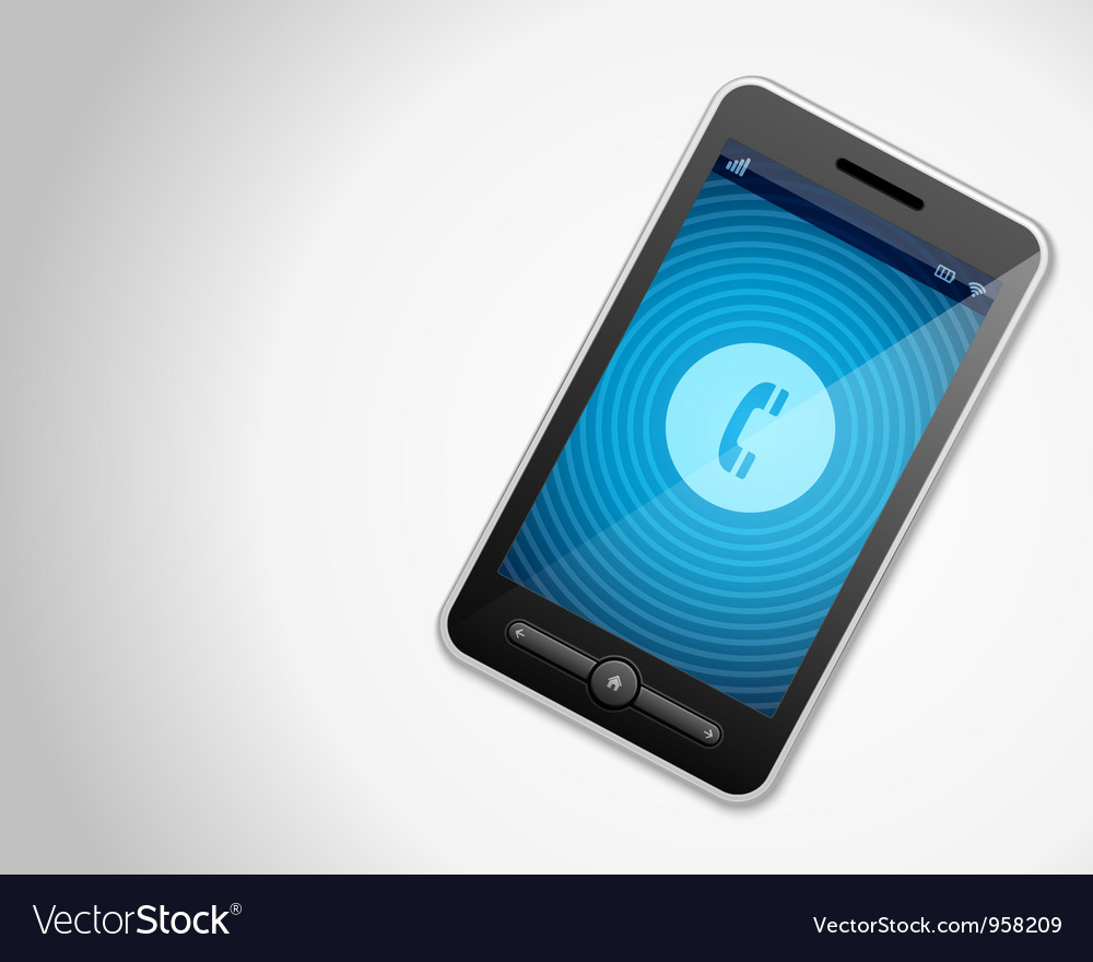 Mobile phone and incoming call vector | Price: 1 Credit (USD $1)