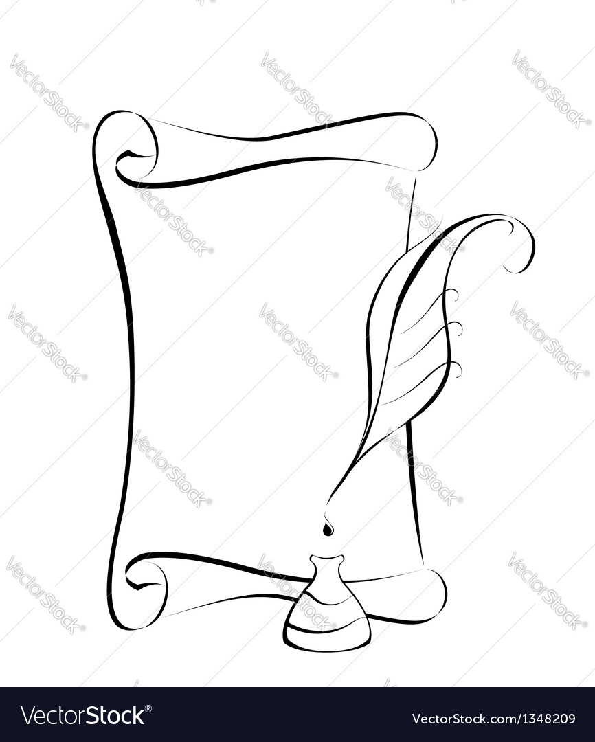 Parchment and ink vector | Price: 1 Credit (USD $1)