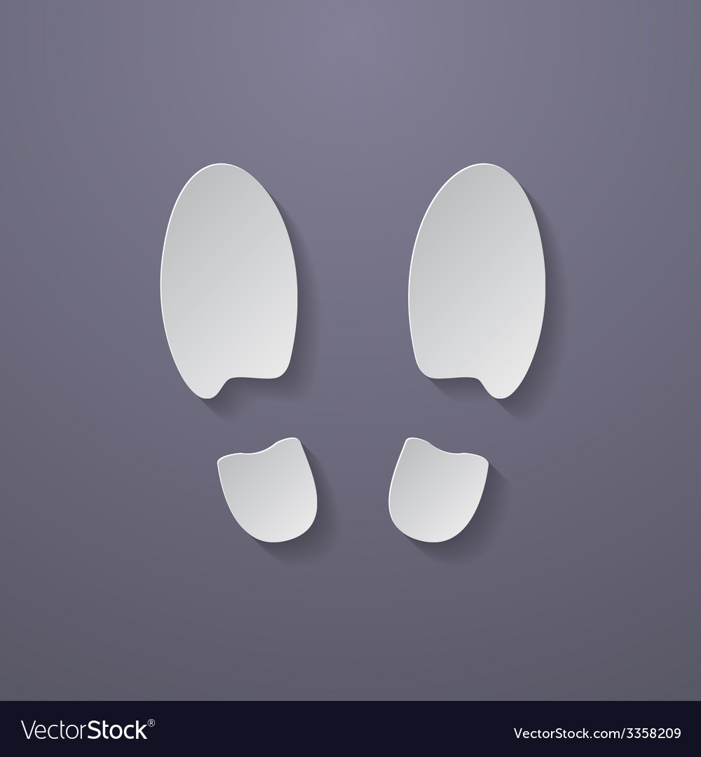 Shoe prints or footprint icon vector | Price: 1 Credit (USD $1)