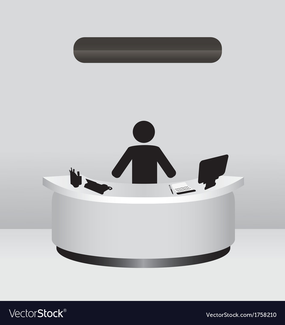 Administrator receptionist vector | Price: 1 Credit (USD $1)