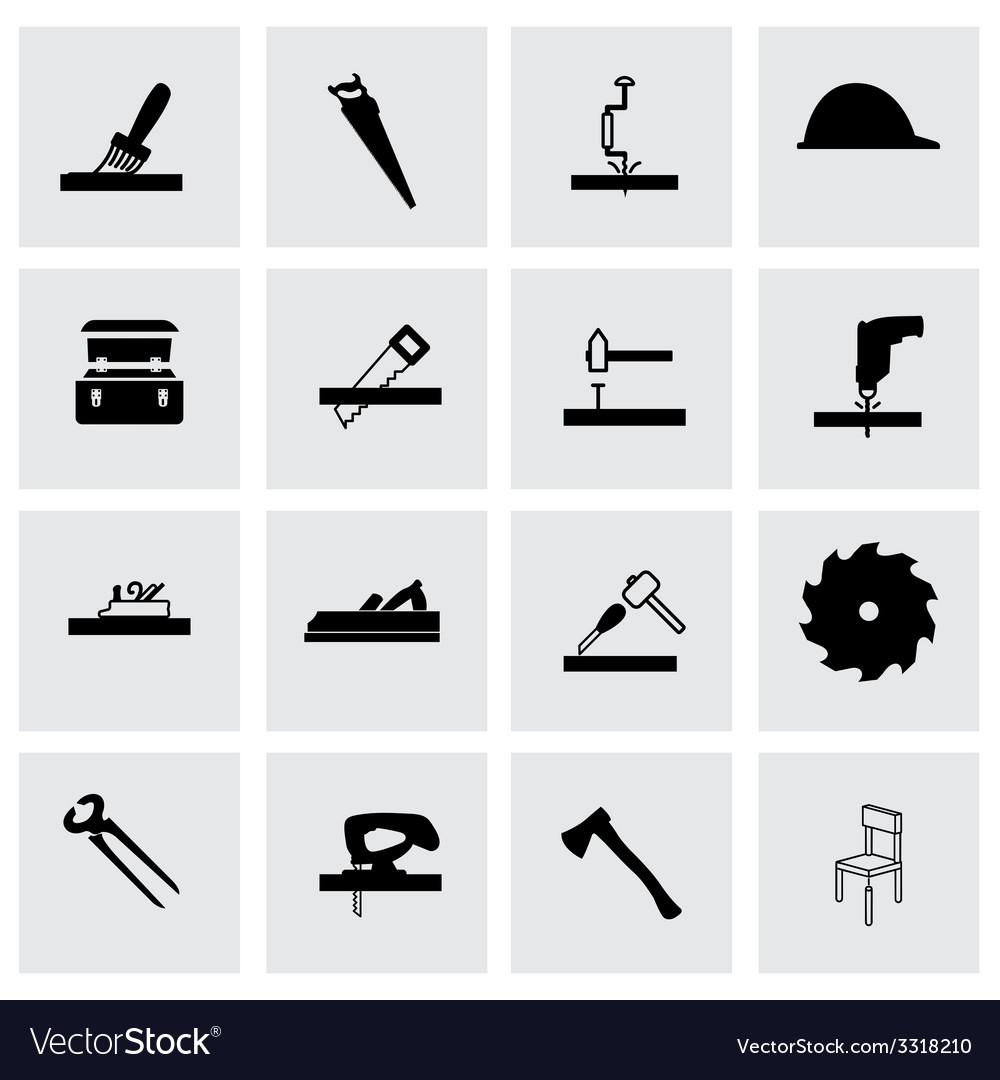 Carpentry icon set vector | Price: 1 Credit (USD $1)