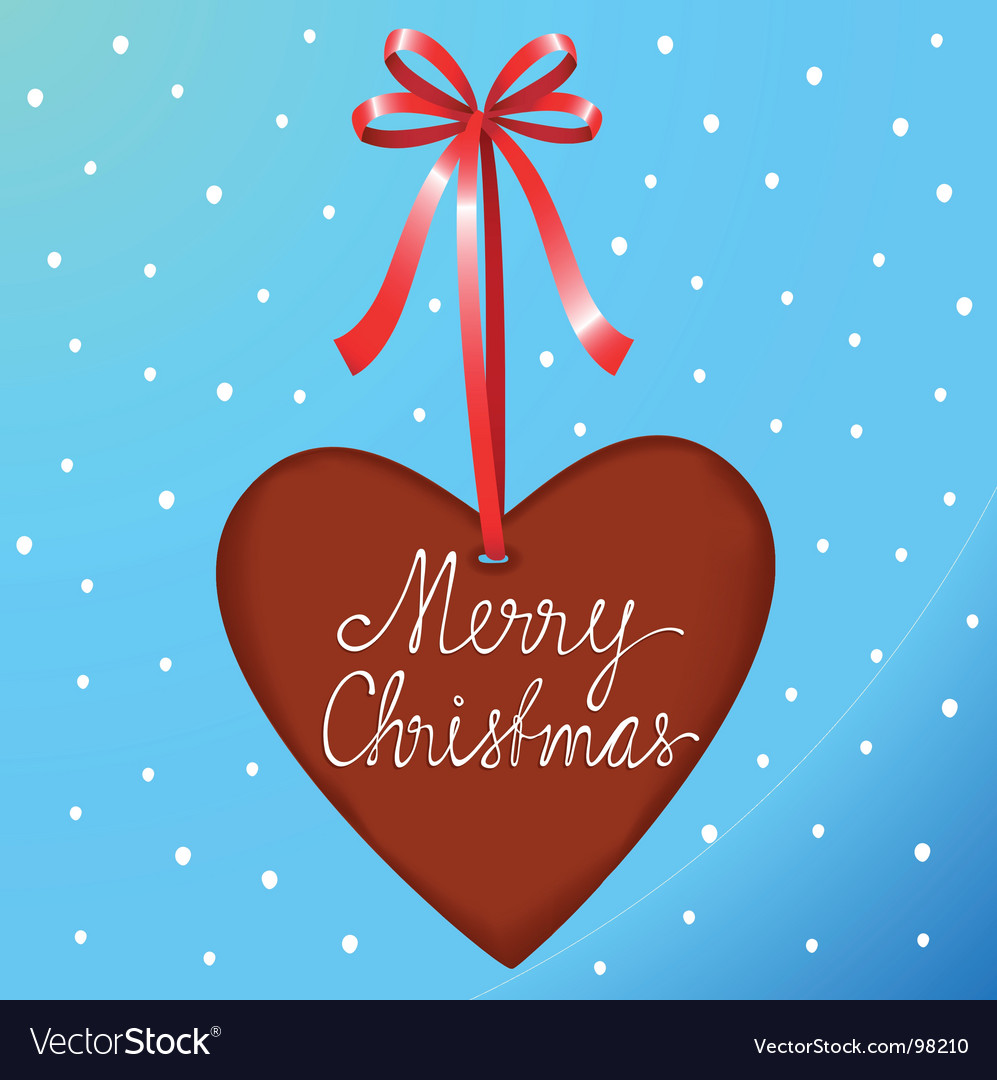 Christmas ginger heart vector | Price: 1 Credit (USD $1)