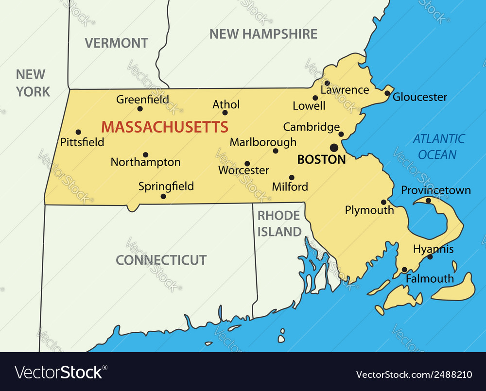 Commonwealth of massachusetts - map vector | Price: 1 Credit (USD $1)