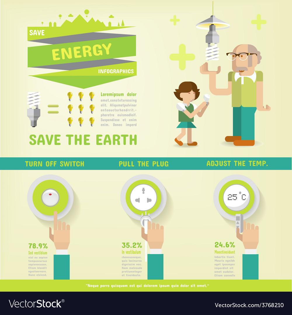 Energy saving vector   Price: 1 Credit (USD $1)