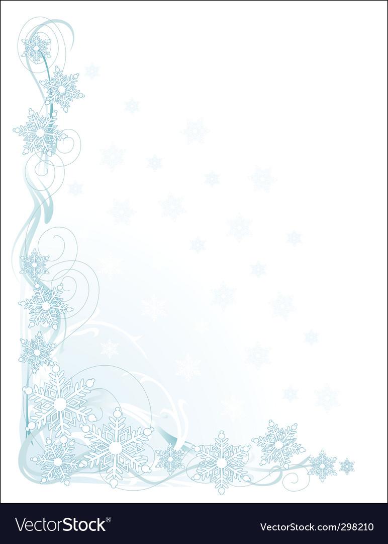 Snowflake corner vector | Price: 1 Credit (USD $1)