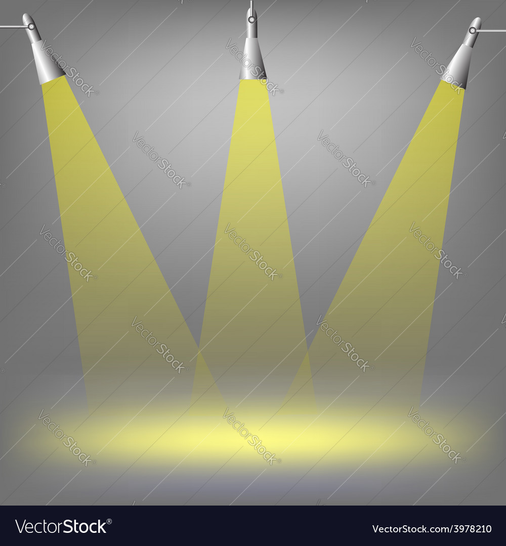 Spotlights vector | Price: 1 Credit (USD $1)