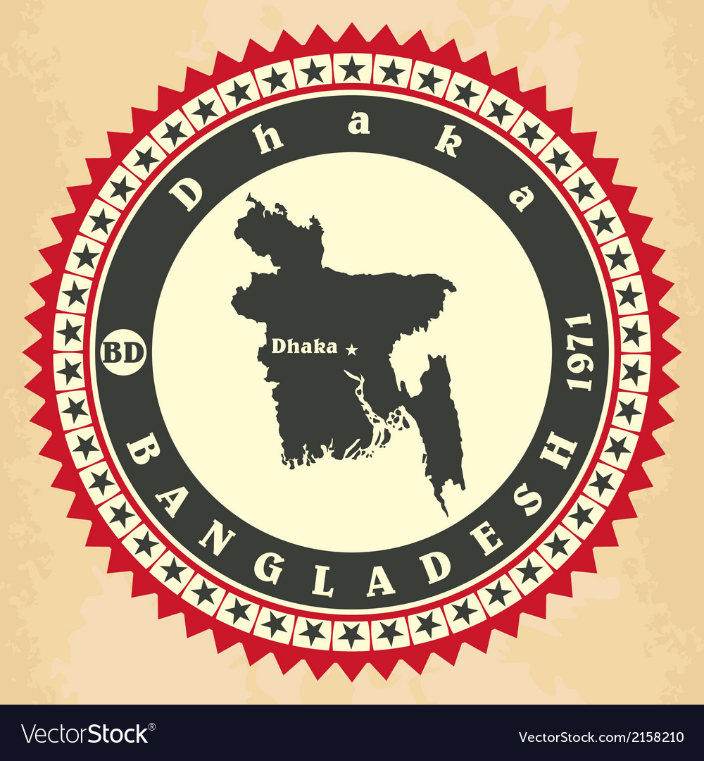 Vintage label-sticker cards of bangladesh vector | Price: 1 Credit (USD $1)