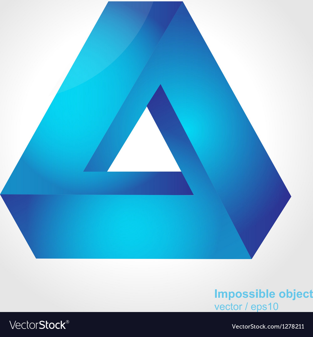 Abstract symbol impossible object triangle vector | Price: 1 Credit (USD $1)