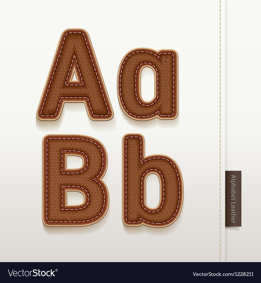 Alphabet leather skin texture vector | Price: 1 Credit (USD $1)