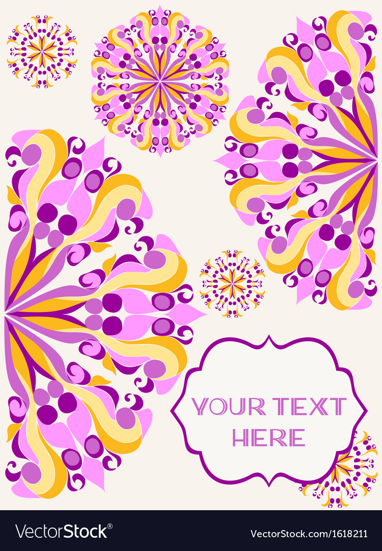 Background with bright round patterns vector | Price: 1 Credit (USD $1)