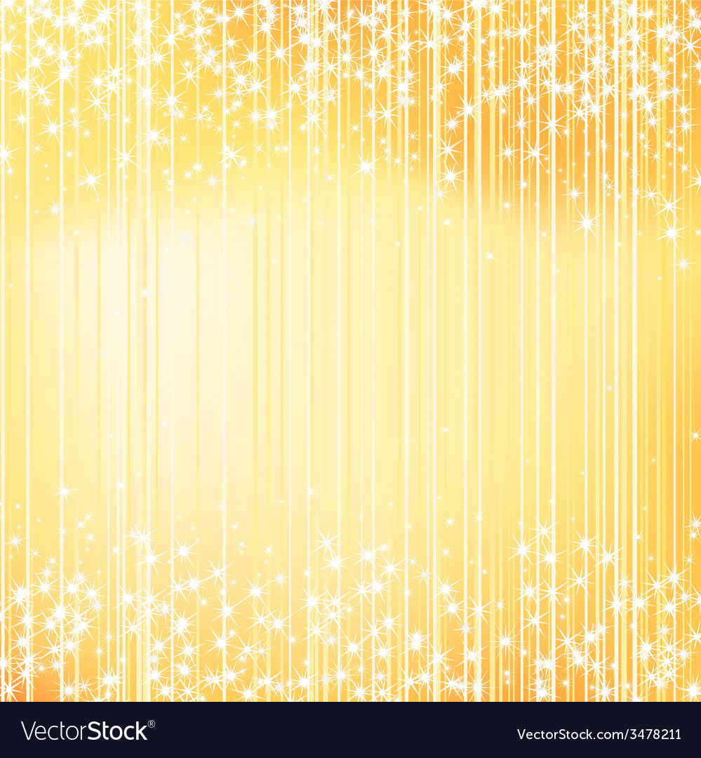 Bright golden holiday background with stars vector