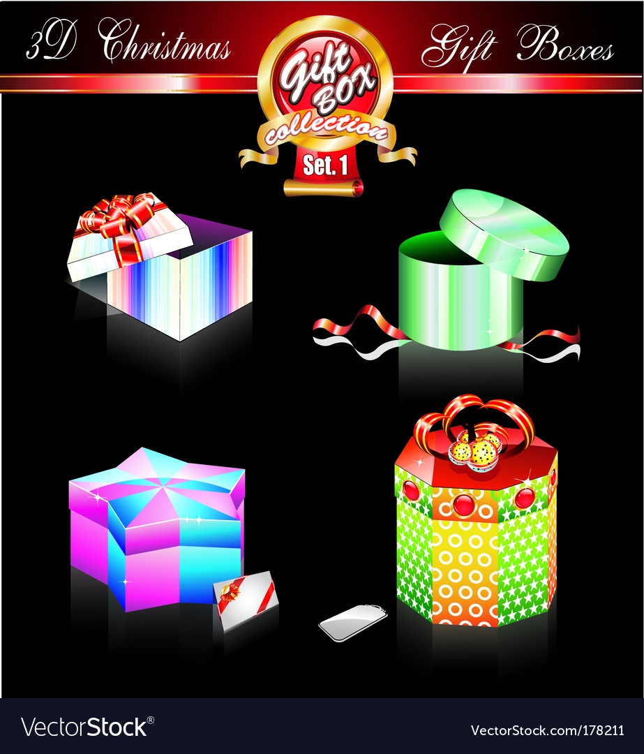 Christmas boxes vector   Price: 3 Credit (USD $3)