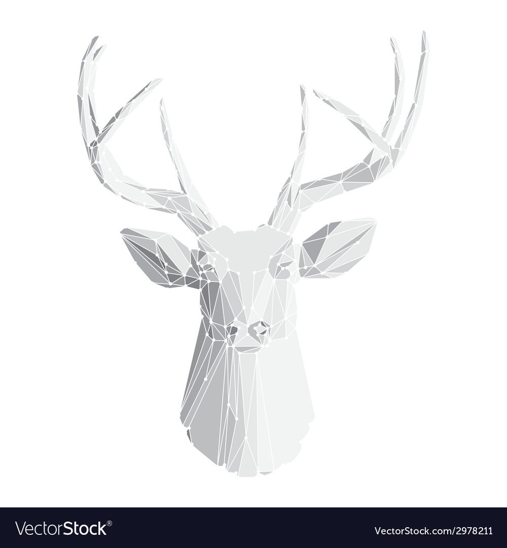 Deer head on white background 2 vector | Price: 1 Credit (USD $1)