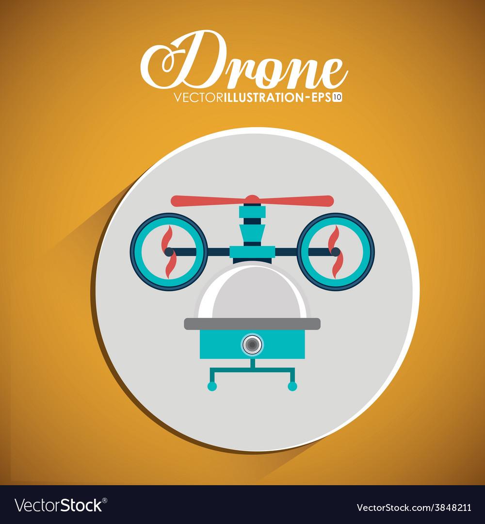Drone design over white background vector | Price: 1 Credit (USD $1)