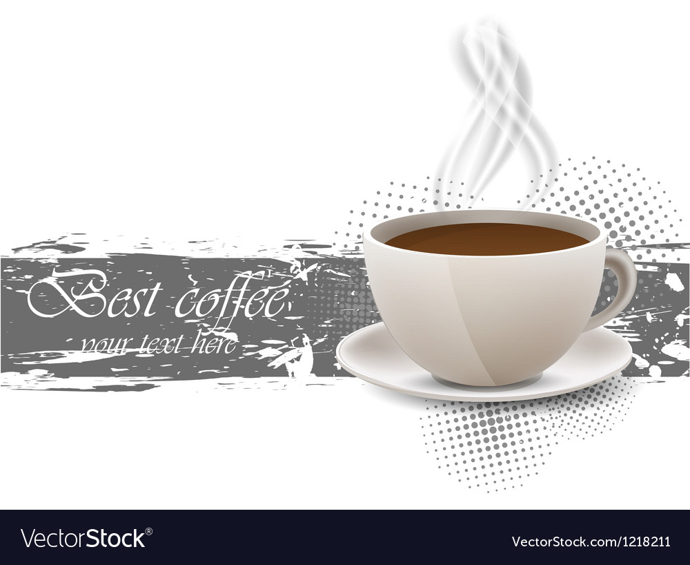 Grunge background with coffe cup vector | Price: 1 Credit (USD $1)