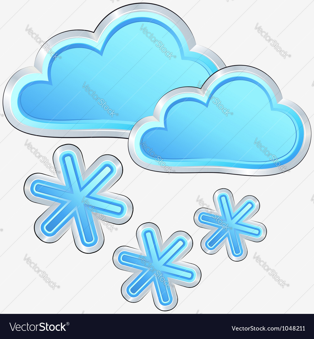 Icon of snow weather vector | Price: 1 Credit (USD $1)