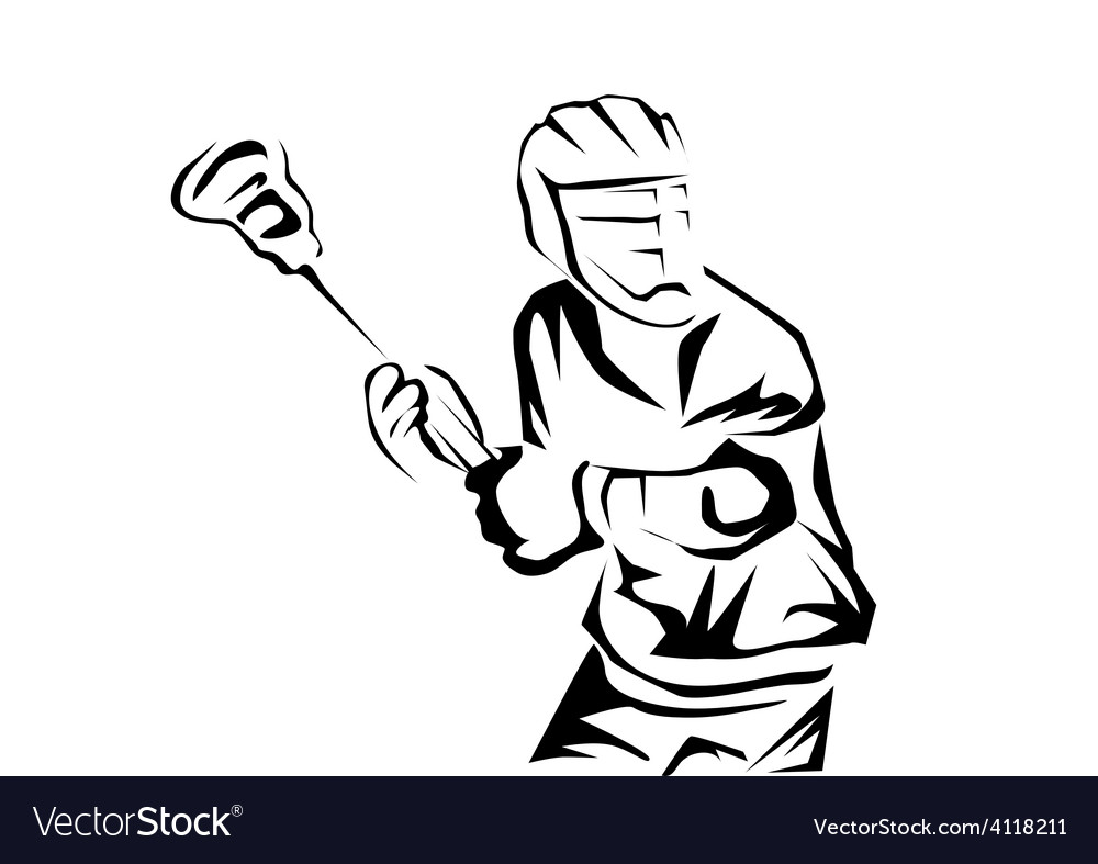 Lacrosse players vector