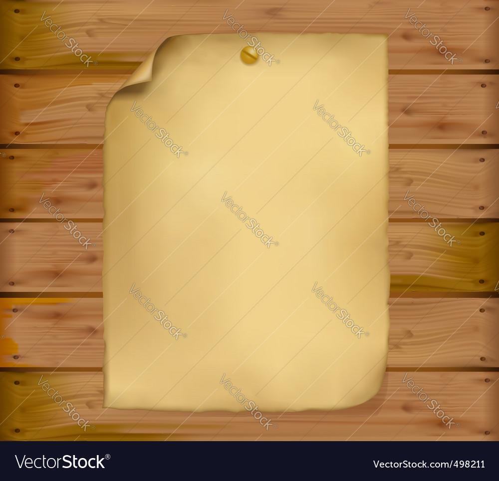Old paper brown wood background vector | Price: 1 Credit (USD $1)