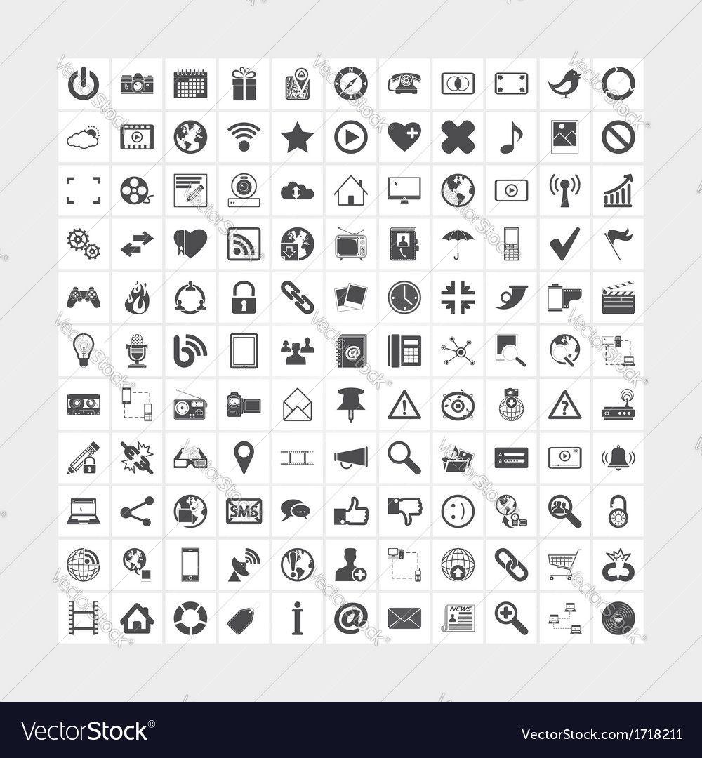 Social media and network icons vector | Price: 1 Credit (USD $1)