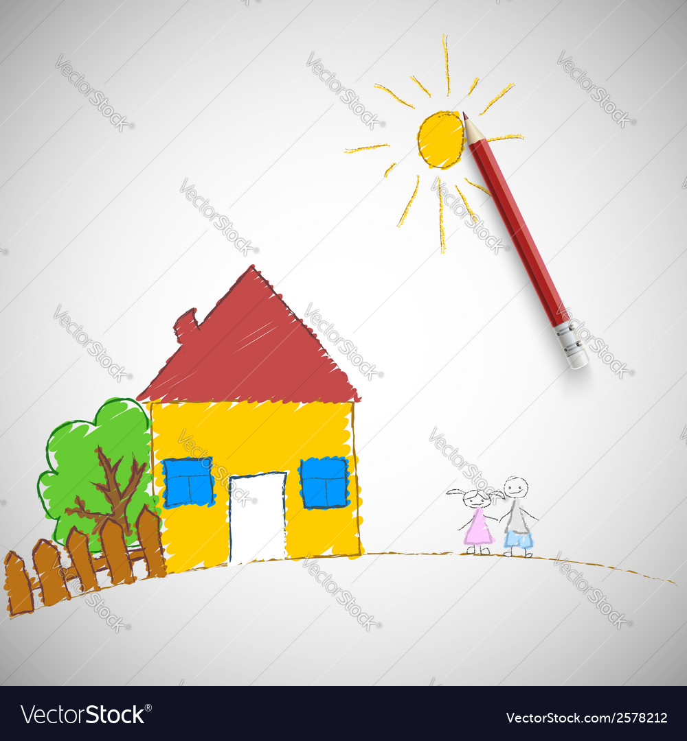 Children painting vector | Price: 1 Credit (USD $1)
