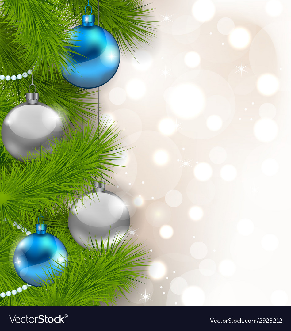 Christmas glowing background with fir branches and vector | Price: 1 Credit (USD $1)