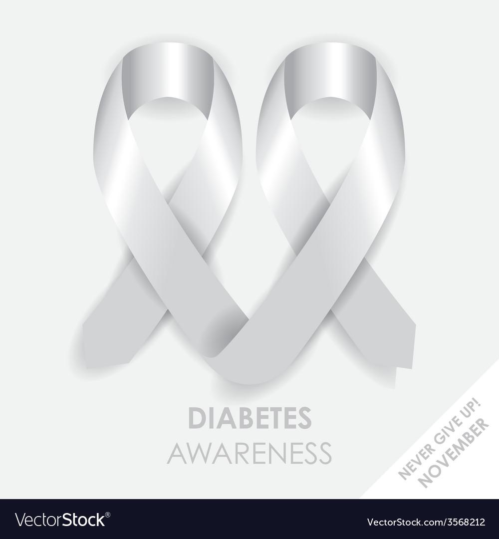 Diabetes heart ribbon vector | Price: 1 Credit (USD $1)