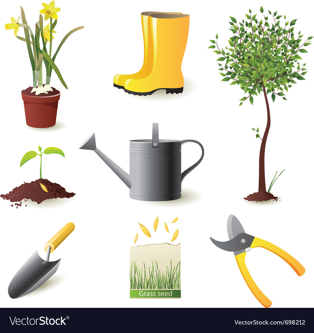 Gardening icons set - vector | Price: 3 Credit (USD $3)