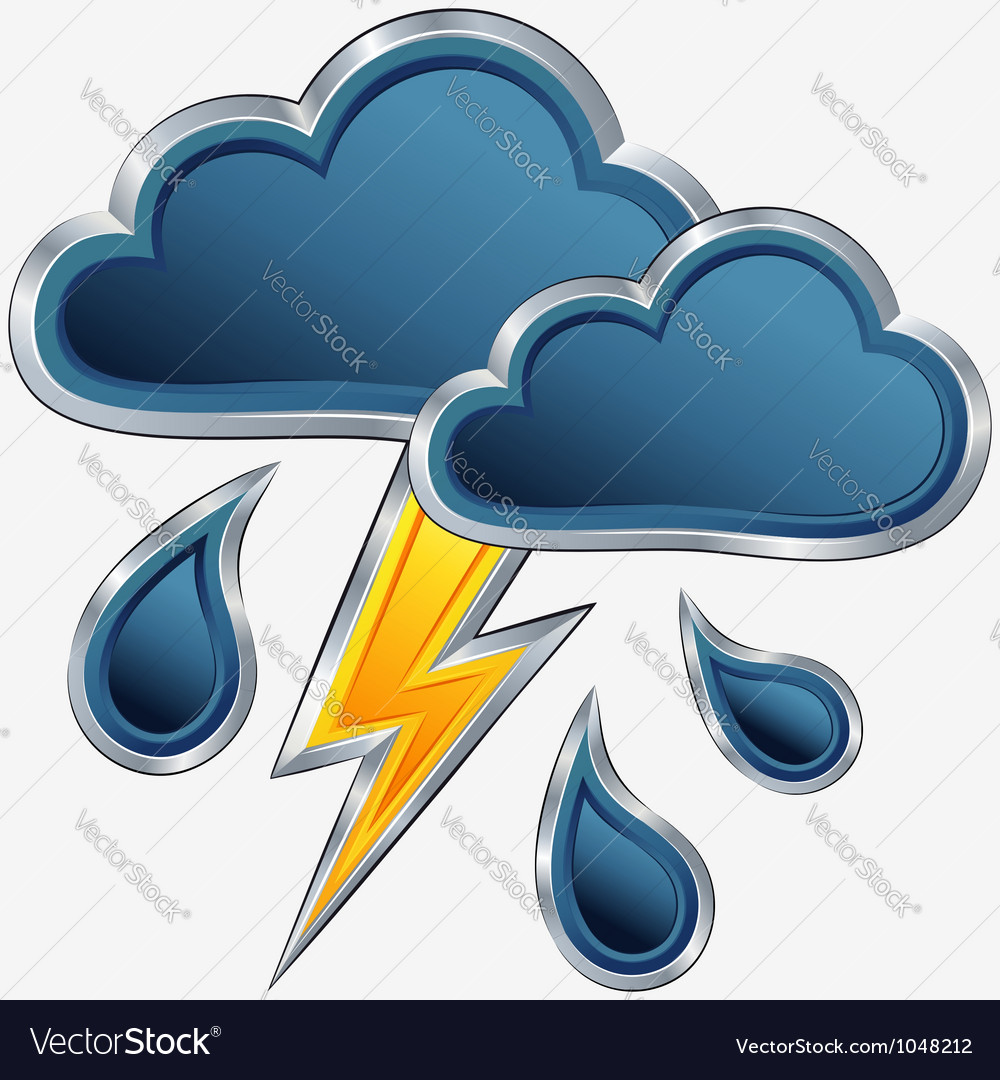 Icon of storm weather vector | Price: 1 Credit (USD $1)