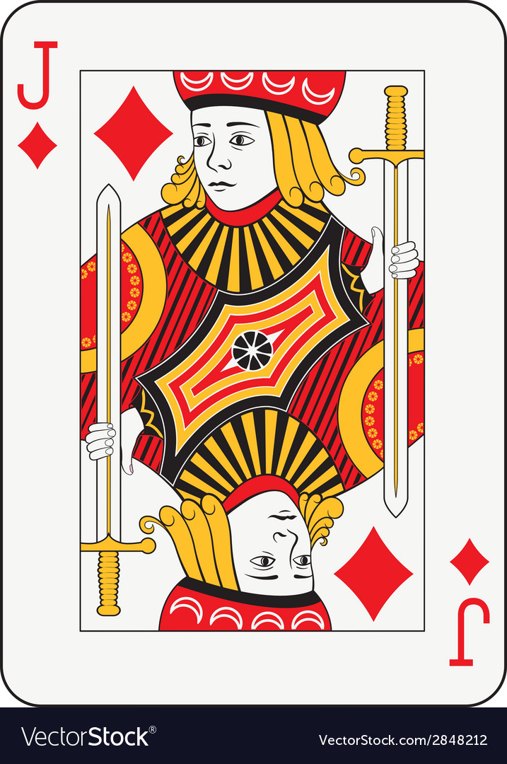 Jack of diamonds vector | Price: 1 Credit (USD $1)