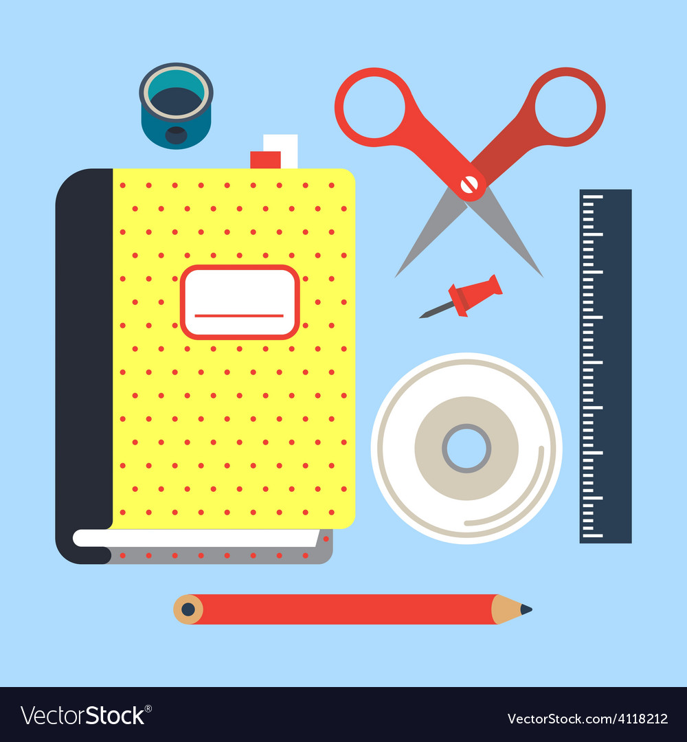 Office supplies vector | Price: 1 Credit (USD $1)