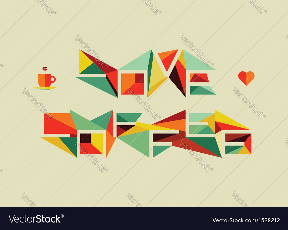 Origami coffee love concept vector | Price: 1 Credit (USD $1)