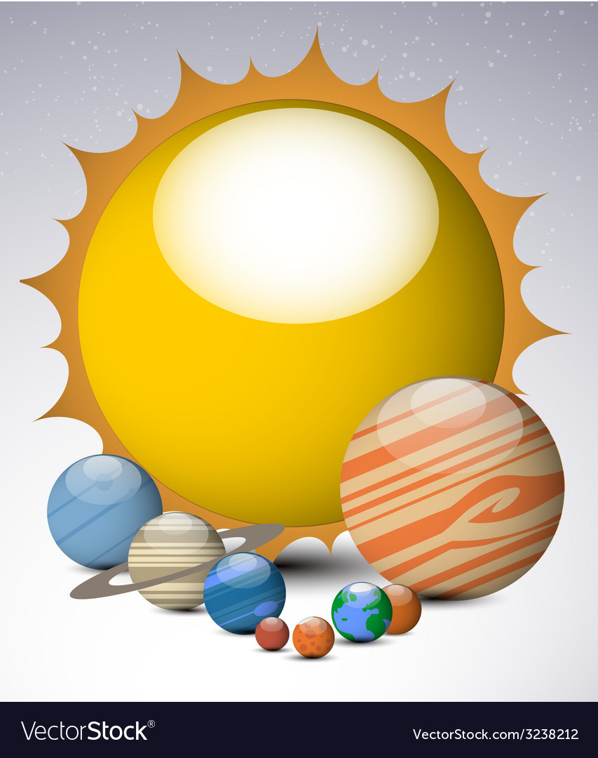 Solar system planets vector | Price: 1 Credit (USD $1)