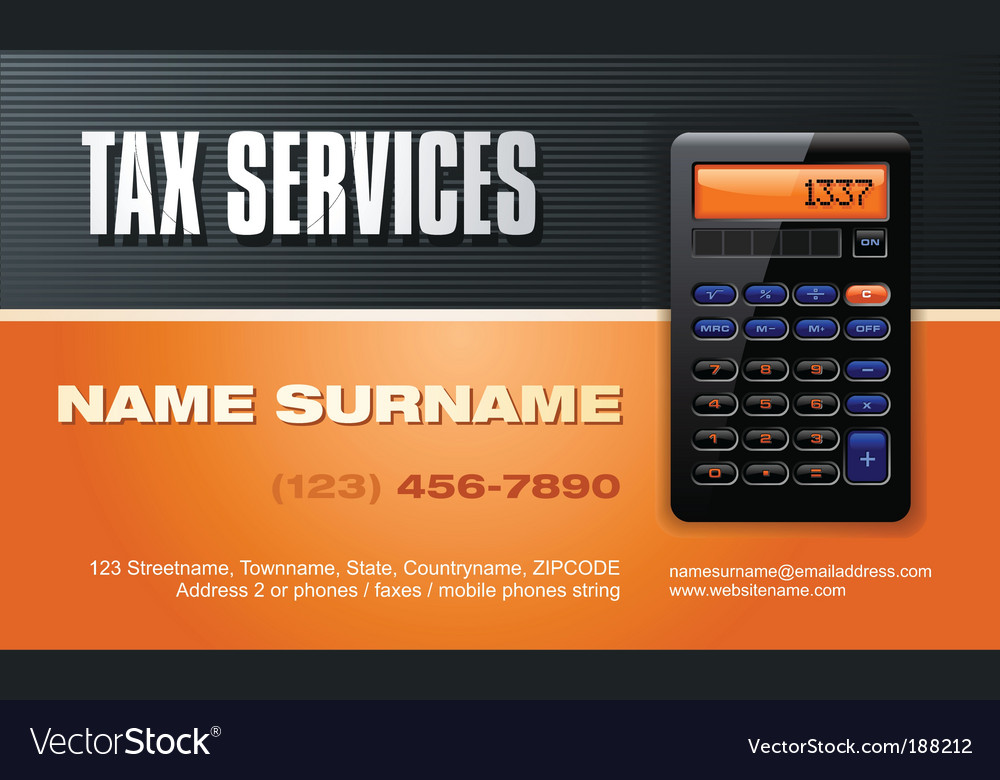 Tax services vector | Price: 3 Credit (USD $3)