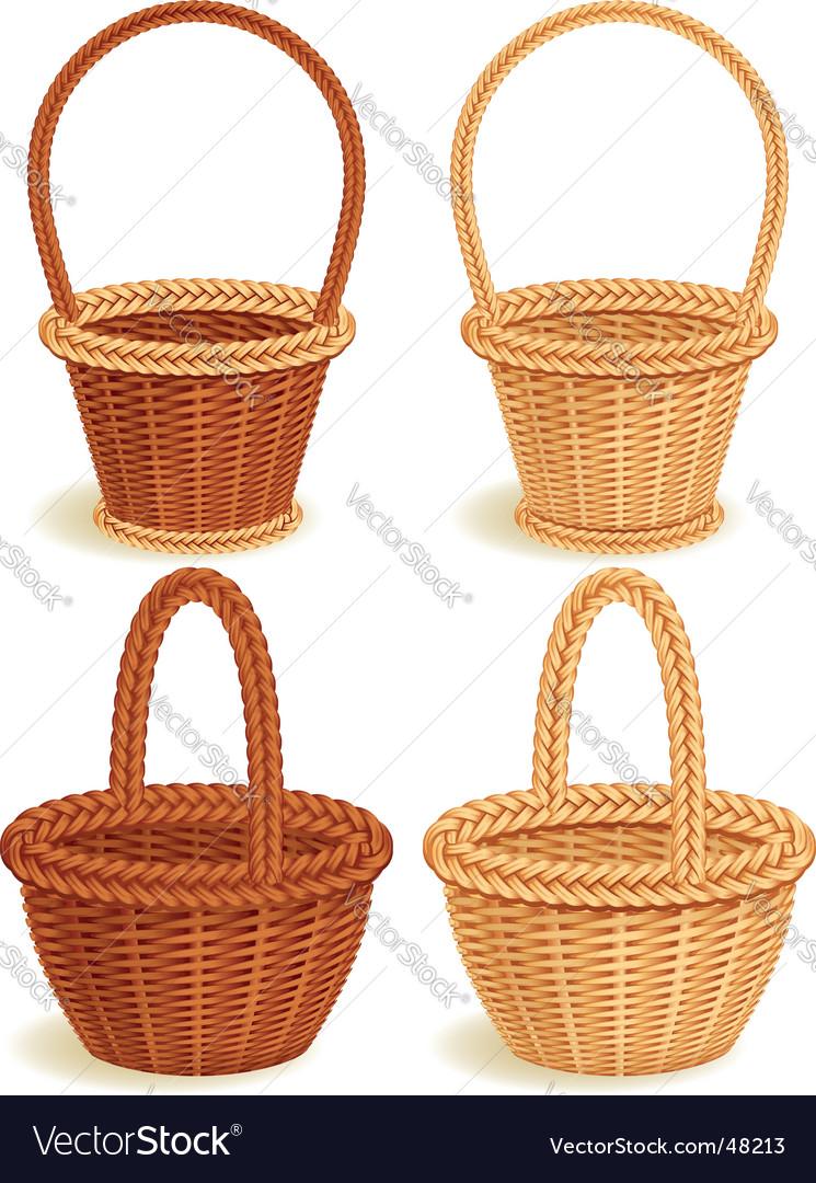 Baskets vector