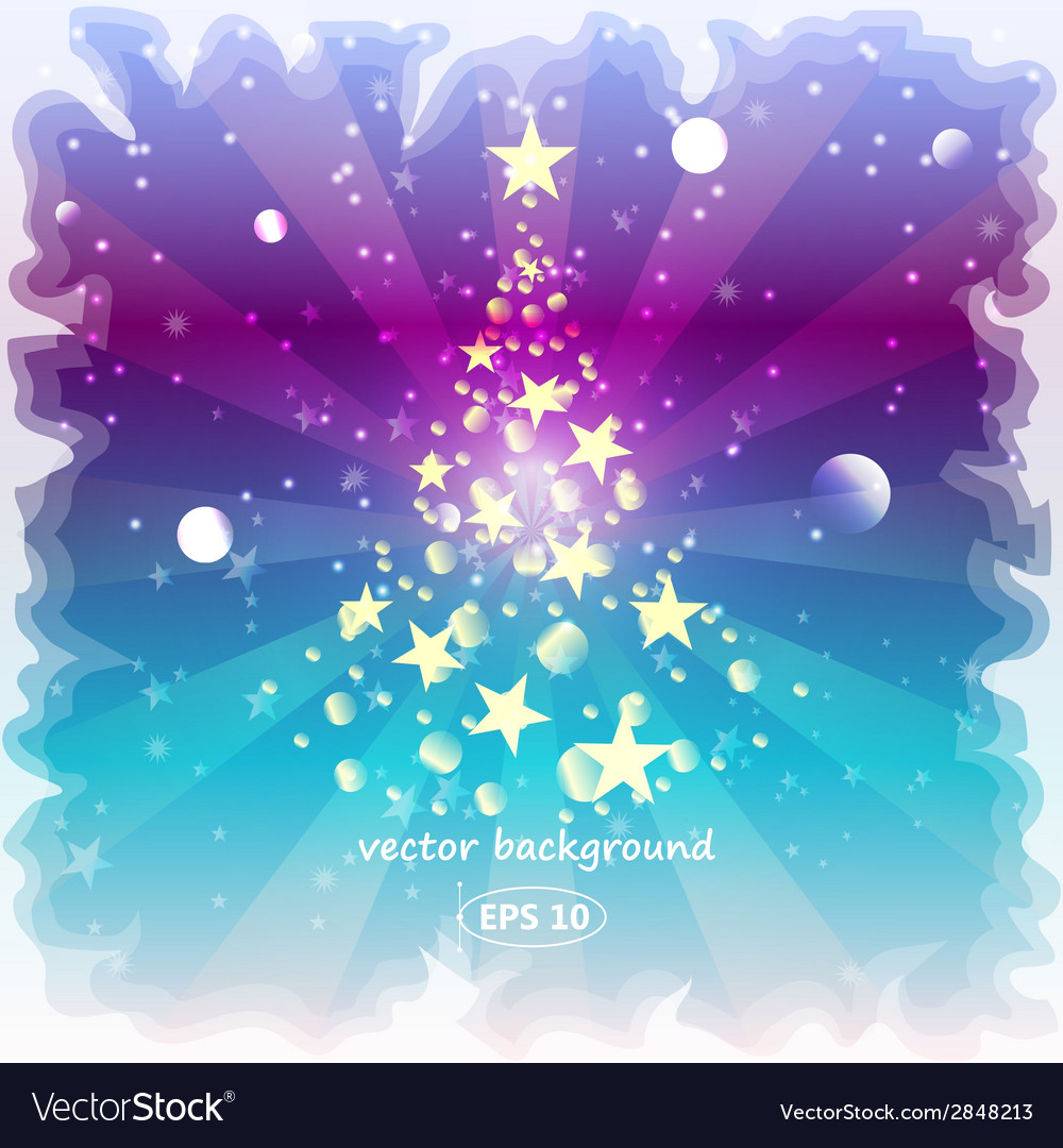 Happy new year background with a frozen glass vector | Price: 1 Credit (USD $1)