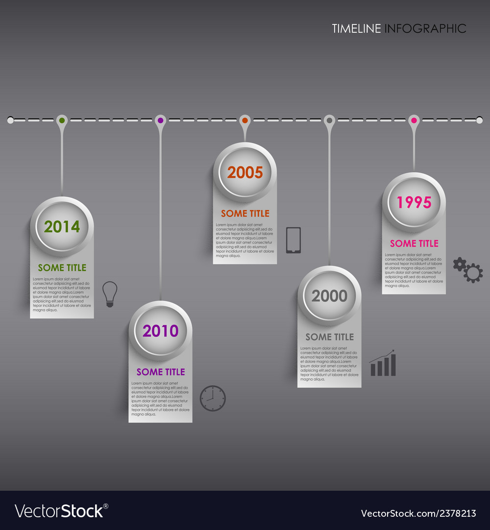 Info graphic time line colored striped template vector | Price: 1 Credit (USD $1)