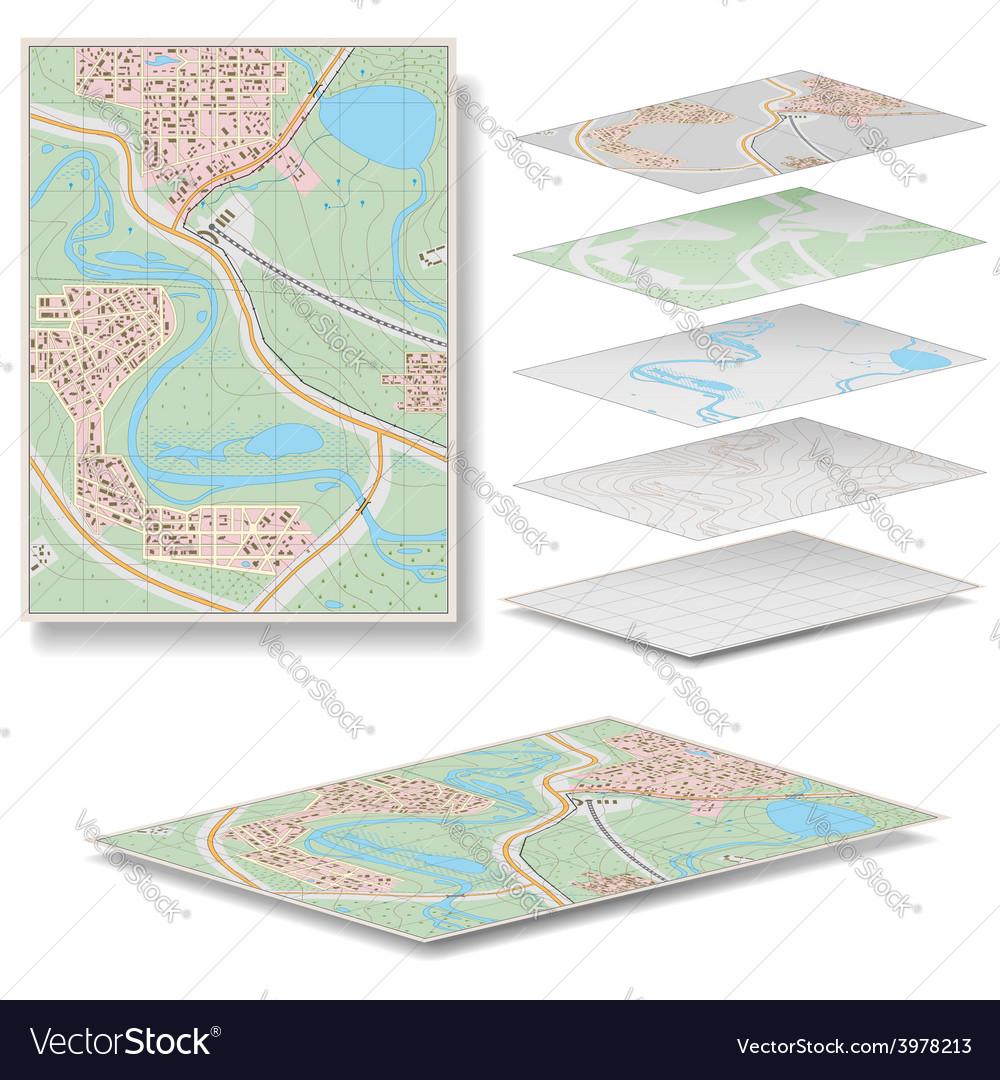 Map vector | Price: 3 Credit (USD $3)