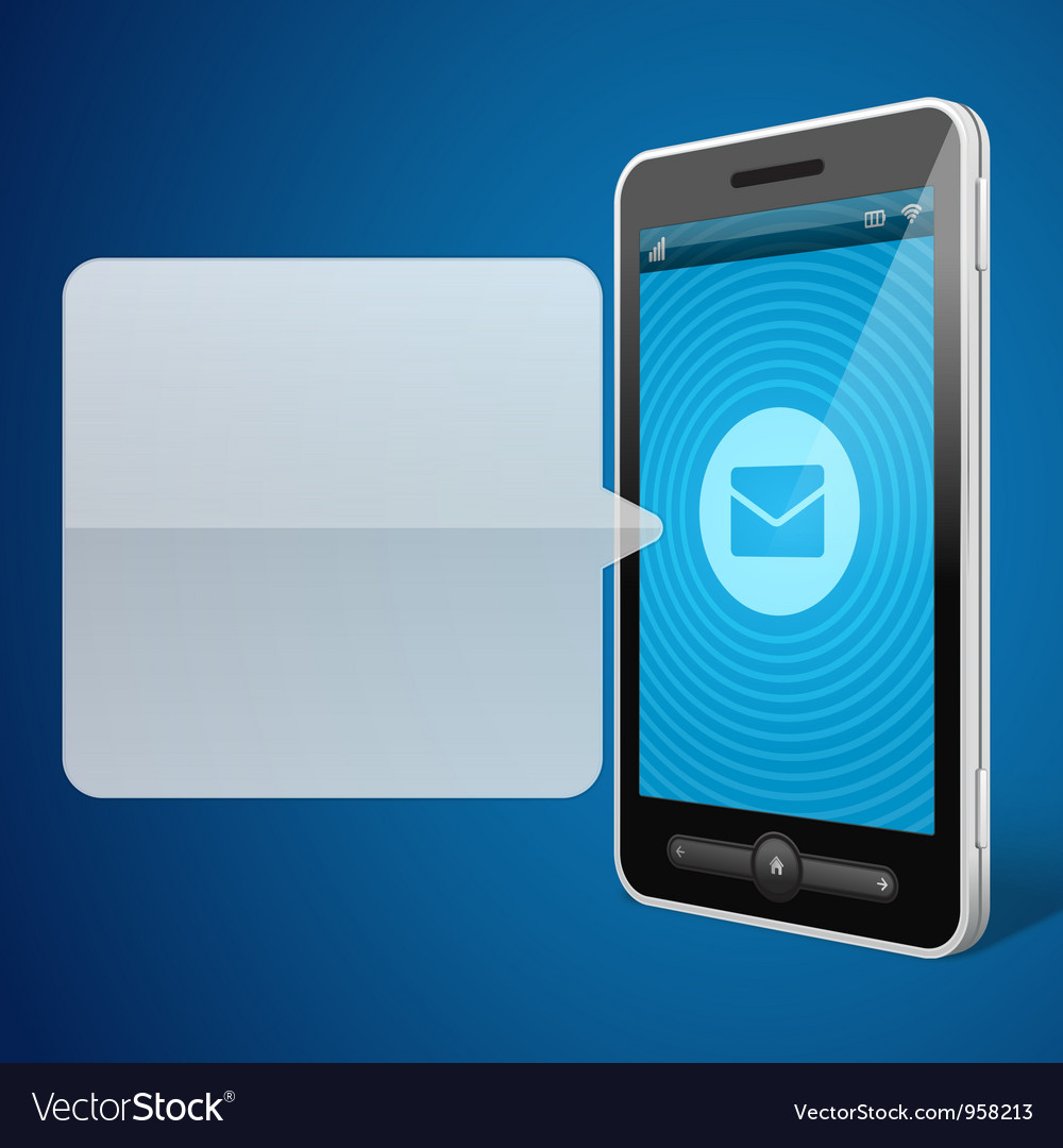 Mobile phone and incoming call icon vector | Price: 1 Credit (USD $1)