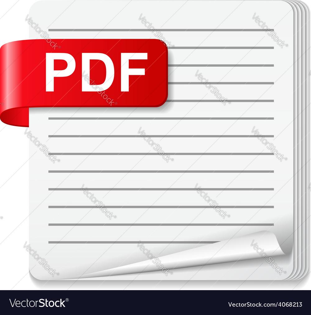 Pdf file icon vector