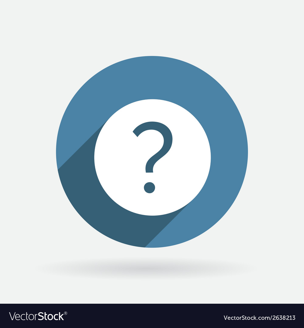 Question mark circle blue icon with shadow vector | Price: 1 Credit (USD $1)