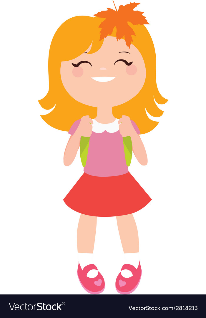Schoolgirl character vector | Price: 1 Credit (USD $1)