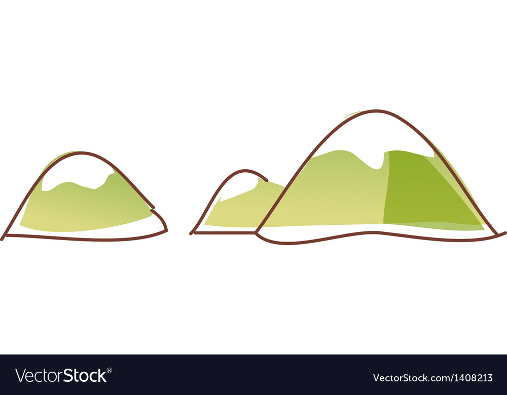 The snow covered peaks vector | Price: 1 Credit (USD $1)
