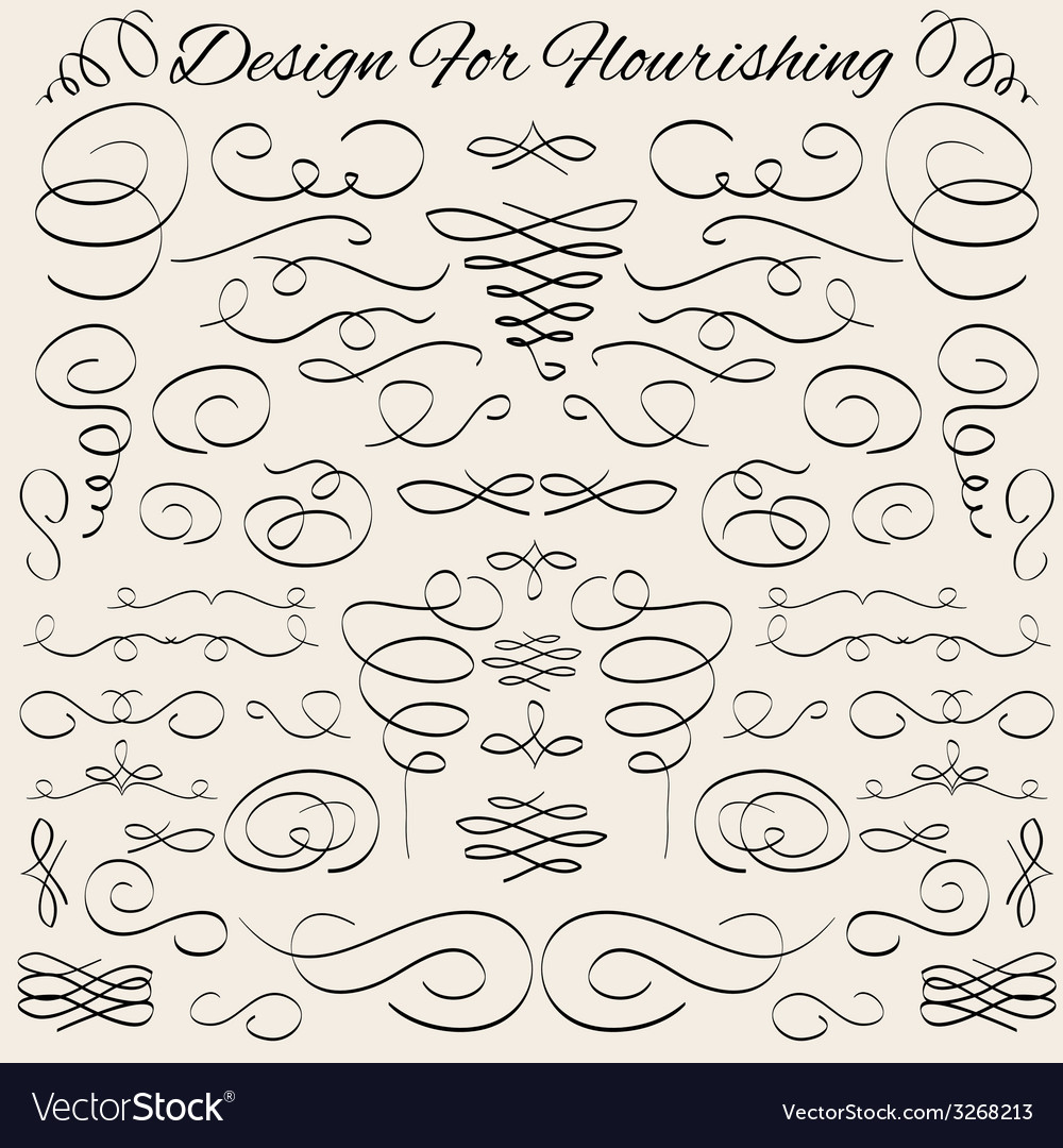 Vintage calligraphic design elements and page vector | Price: 1 Credit (USD $1)