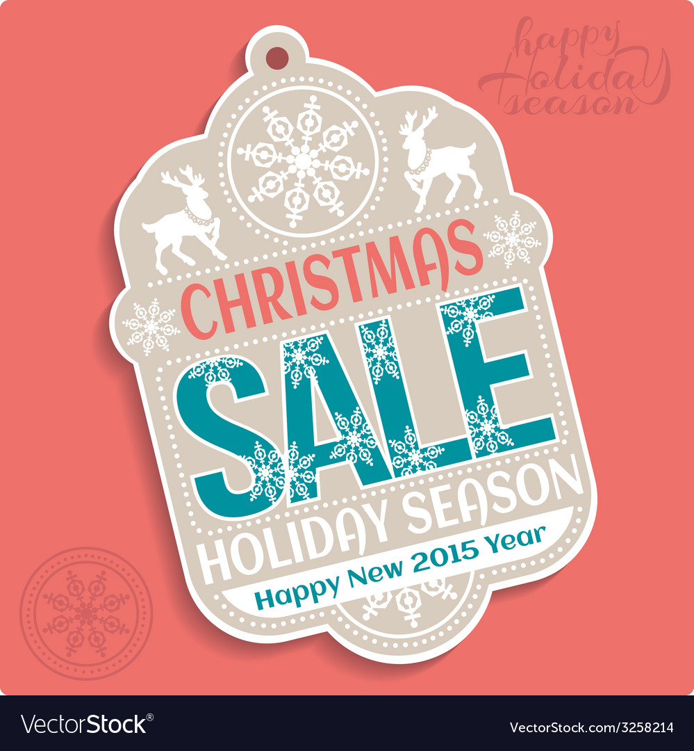Christmas sale holiday season and happy new 2015 vector | Price: 1 Credit (USD $1)