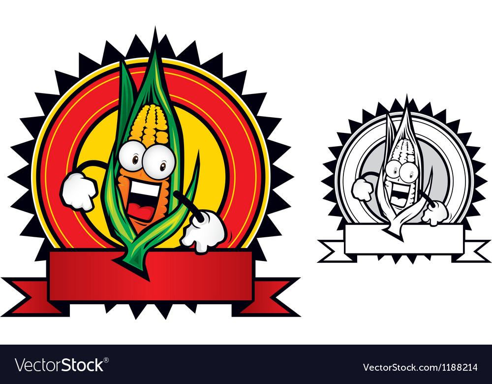 Corn mascot vector | Price: 3 Credit (USD $3)
