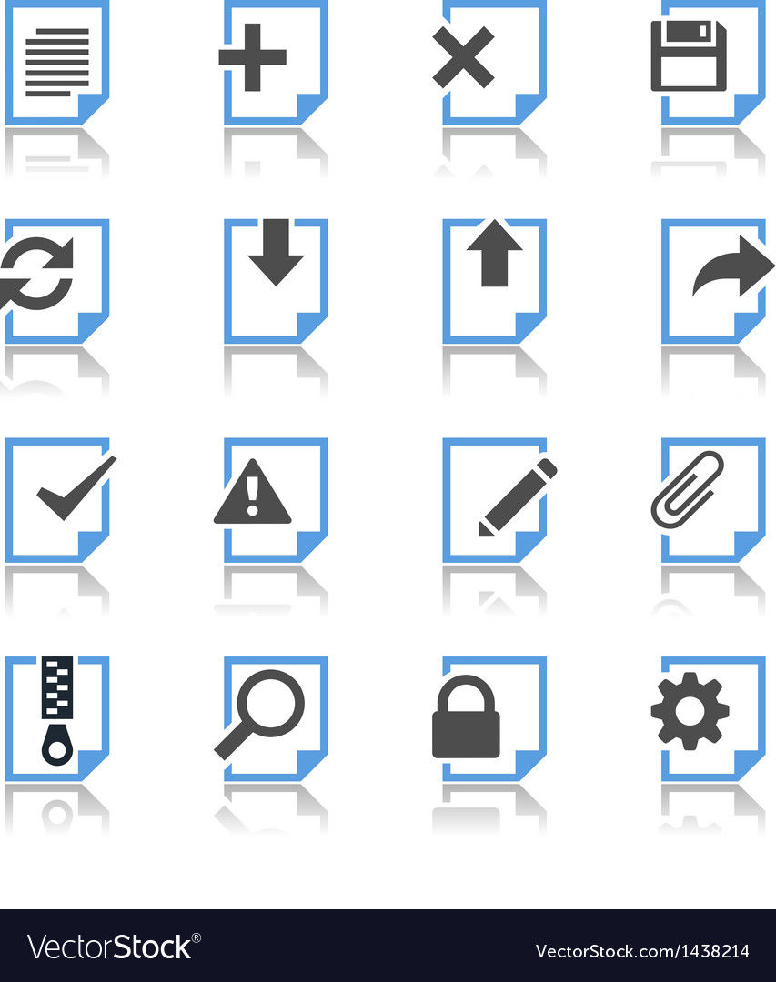 Document icons reflection vector | Price: 1 Credit (USD $1)