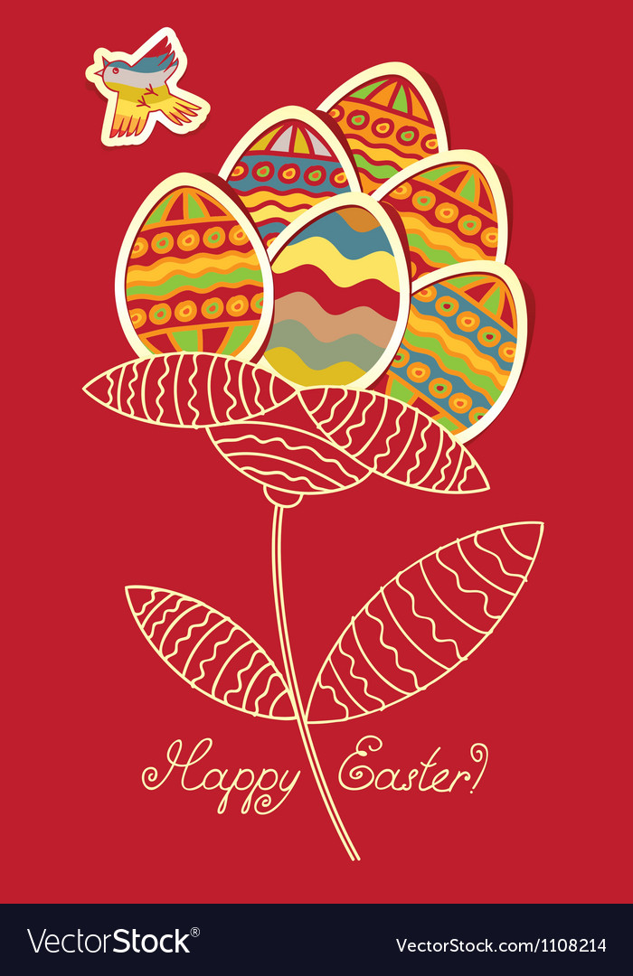 Easter bird vector | Price: 1 Credit (USD $1)