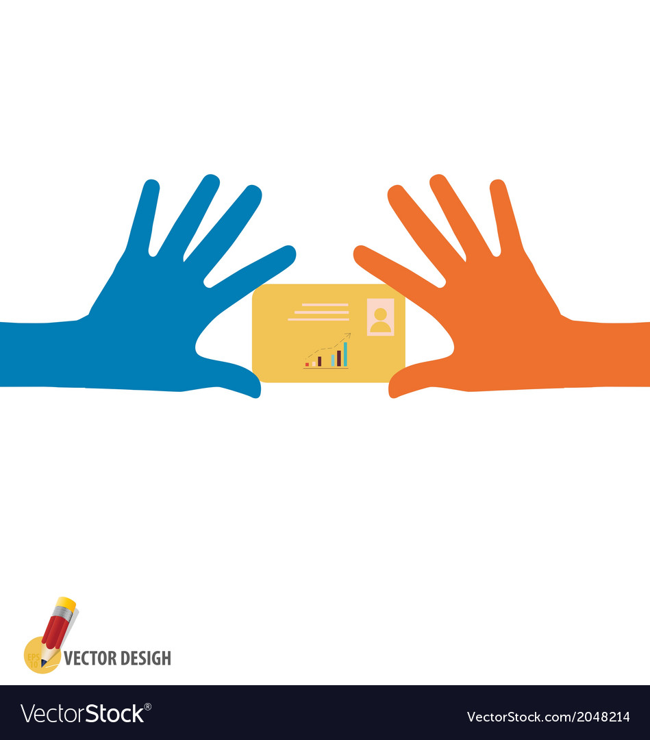 Hands holding credit card vector | Price: 1 Credit (USD $1)
