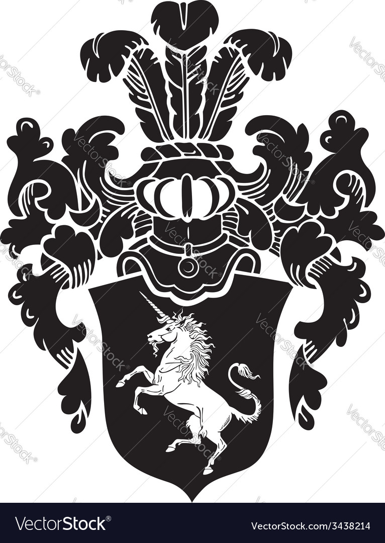 Heraldic silhouette no21 vector | Price: 1 Credit (USD $1)